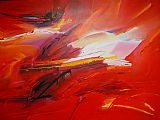 2010 Sea Dream in Red I painting