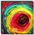 Abstract paintings - colorful dance circle by 2010