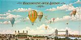 2011 Ballooning over London painting