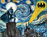 2011 Dark Starry Knight by James Hance painting