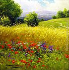 2011 Gerhard Nesvadba wildflowers painting
