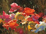 2011 Poppies in Sunshine by Leon Roulette painting