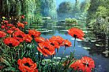 Floral paintings - Red Poppies by 2011