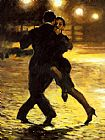 Tango paintings - TANGO and COBBLESTONES by 2011
