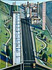 2011 Wayne Thiebaud Down Eighteenth Street painting