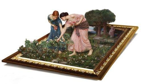 3d art waterhouse gather flower girls