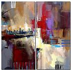 Abstract Sounds of City painting