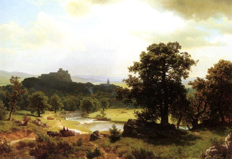 Albert Bierstadt Day's Beginning