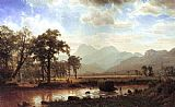 Albert Bierstadt Haying, Conway Meadows painting