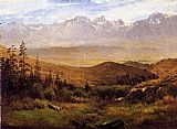 Albert Bierstadt In the Foothills of the Mountains painting