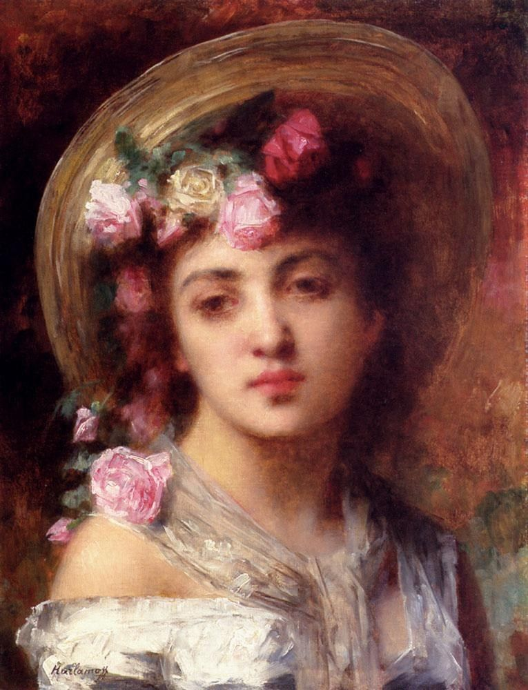 Alexei Alexeivich Harlamoff The Flower Girl