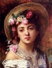 Alexei Alexeivich Harlamoff The Flower Girl painting