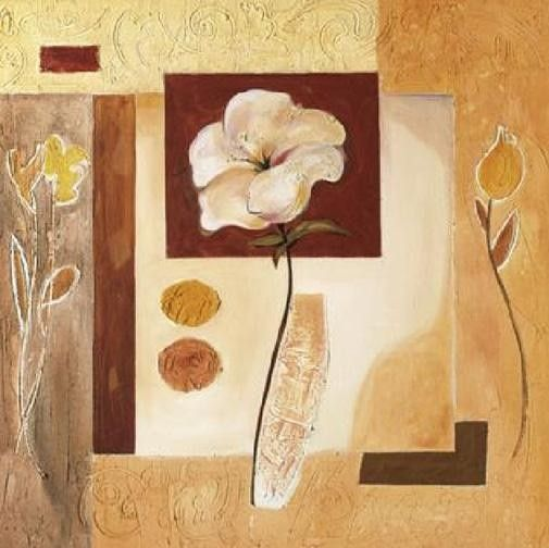 Alfred Gockel Rustic Flower Collage II