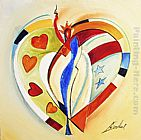 Alfred Gockel AMERICAN HEARTS I painting