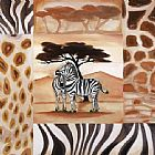 Alfred Gockel Animals of the Veldt - Zebras painting