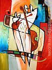 Alfred Gockel BEGINNING OF LOVE & MUSIC painting