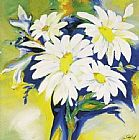 Alfred Gockel Daisy Bouquet painting