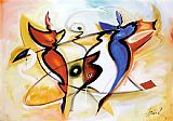Alfred Gockel Dancing Angels painting
