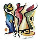 Alfred Gockel Dancing painting