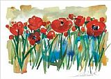 Alfred Gockel Field of Poppies painting