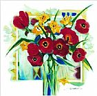 Alfred Gockel Red Poppies In Vase painting