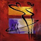 Alfred Gockel Rhumba in Red I painting