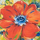 Alfred Gockel Riotous Red Bloom painting
