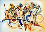 Alfred Gockel Take Five painting