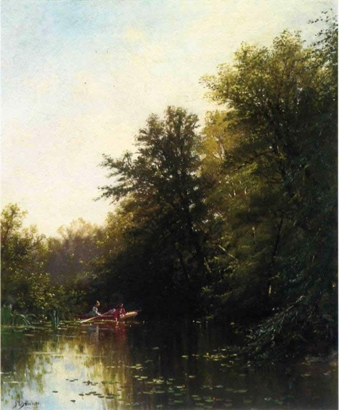 Alfred Thompson Bricher On the Mill Stream