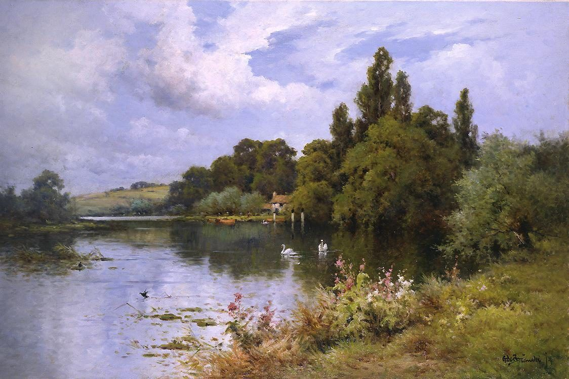Alfred de Breanski A Reach at the Thames Above Goring