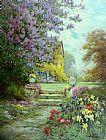 Alfred de Breanski Lilacs & Roses painting
