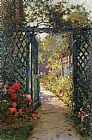 Alfred de Breanski The Garden Gate painting
