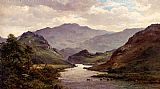 Alfred de Breanski The River Colwyn, North Wales painting