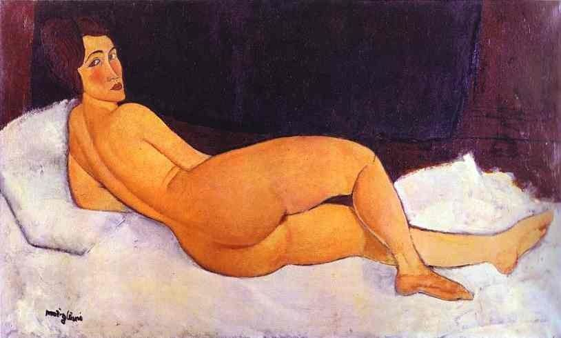 Amedeo Modigliani Nude Looking over Her Right Shoulder