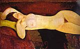 Amedeo Modigliani the Reclining Nude painting