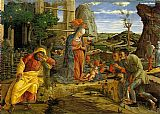 Andrea Mantegna Adoration of the Shepherds painting