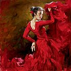 Andrew Atroshenko Crimson Dancer painting