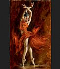 fabian perez Framed Prints - Fiery Dance