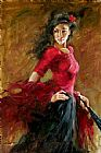 Andrew Atroshenko The Fan Dancer painting