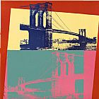 Andy Warhol Brooklyn Bridge painting