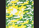 Andy Warhol Camouflage green yellow white painting