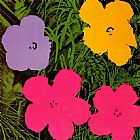 Andy Warhol Flowers 1970 painting