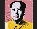 Andy Warhol Mao Yellow Shirt painting