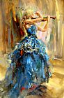 Anna Razumovskaya Dancing With a Violin 2 painting