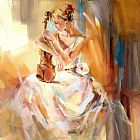 Anna Razumovskaya White Note 3 painting