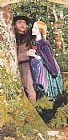 Arthur Hughes The Long Engagement painting
