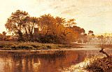 Benjamin Williams Leader The Last Gleam Wargrave on Thames painting