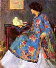 Bernhard Gutmann Lady in a Chinese Silk Jacket painting