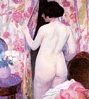 Bernhard Gutmann Nude with Drapery painting