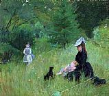 Berthe Morisot In a Park painting